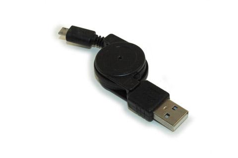 Udtrækkelig USB-A 2.0 til USB-B kabel