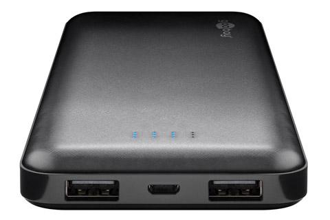 Goobay Slimline USB Powerbank, 10.000 mAh
