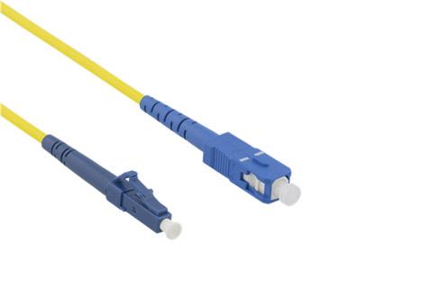 Deltaco LC til SC simplex fiberoptisk kabel (OS1/2)