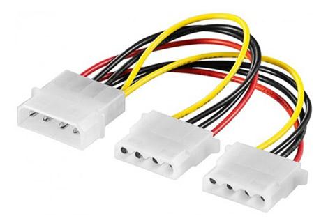 Molex split kabel (Molex til 2 x Molex)