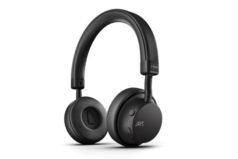 JAYS a-Seven wireless on-ear headphones, black