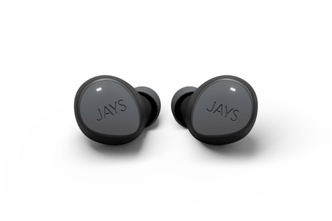 JAYS m-Seven True Wireless headphones, grey