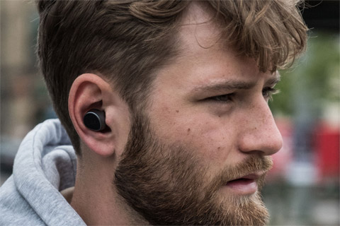 JAYS m-Seven True Wireless headphones, lifestyle