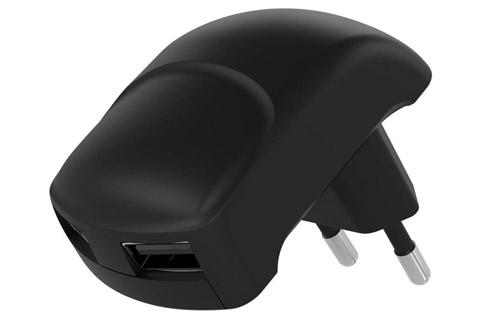 Goobay Vinklet USB oplader - 2,4 Amp