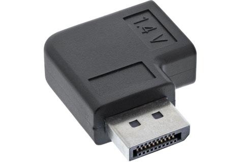 Horizontal HDMI angle adaptor (HDMI A female - male) - 90 degree, left
