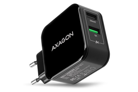 AXAGON ACU-QC5 Dual USB Quick Charger (2.600 mA / 31W)
