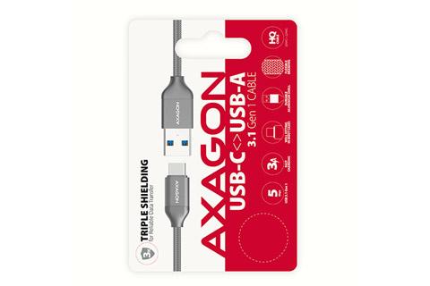 AXAGON USB 3.2 Gen 1 kabel (USB C - A male), 3A