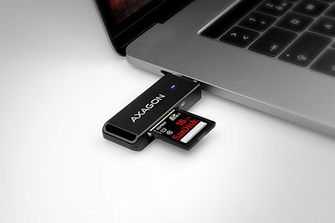 AXAGON CRE-S2C Multi card-reader for USB-C 3.2 Gen 1