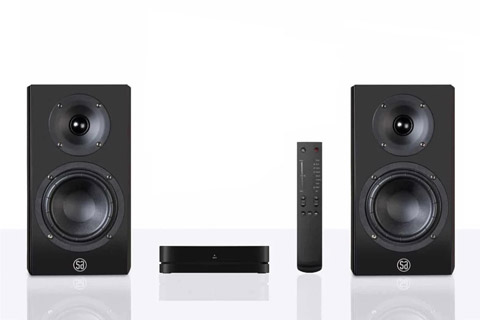 System Audio Legend 5 Silverback shelf speaker with hub and remote - Black