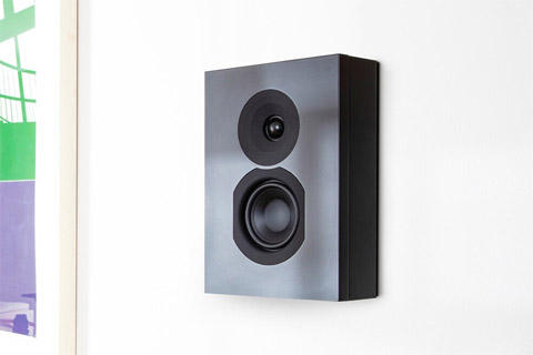 System Audio Saxo 6 on-wall speaker, black satin
