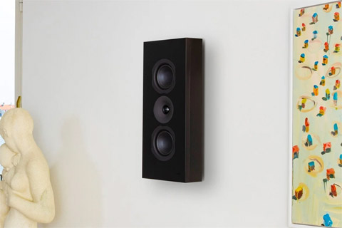 System Audio Saxo 16 on-wall speaker, black satin