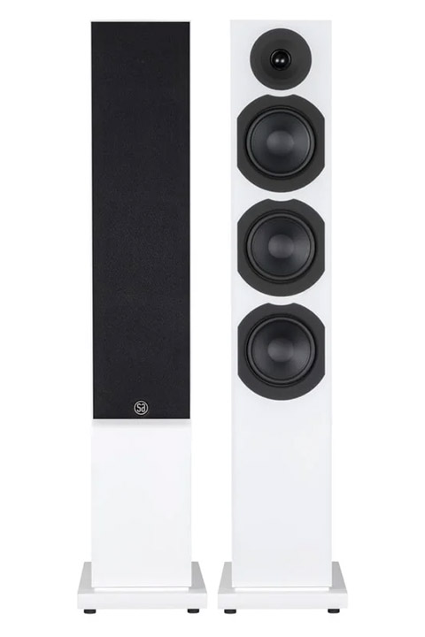 System Audio Saxo 60 floorstanding speaker, white satin