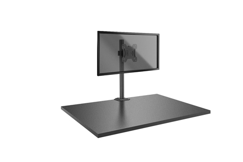Lindy Single Display Short Bracket with Pole and Desk Clamp