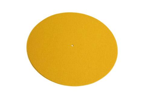 REGA Turntable wool mat - Yellow