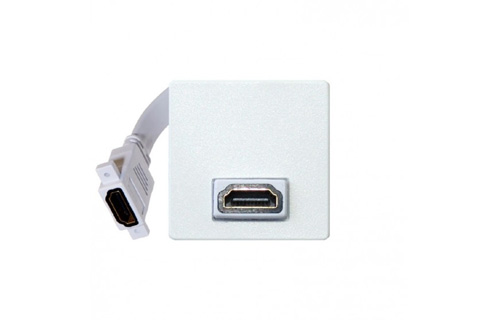 HDMI vægdåse, 1 modul - HDMI 2.0