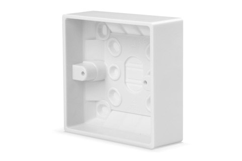 Lindy EURO wall plate surface box, single, depth 32mm