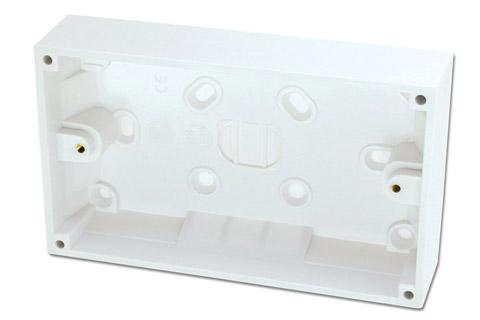 Lindy EURO wall plate surface box, double, depth 32mm