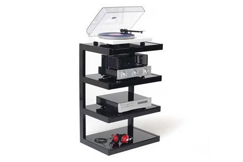 NorStone ESSE HIFI base module, 4 shelfs - Black Lifestyle