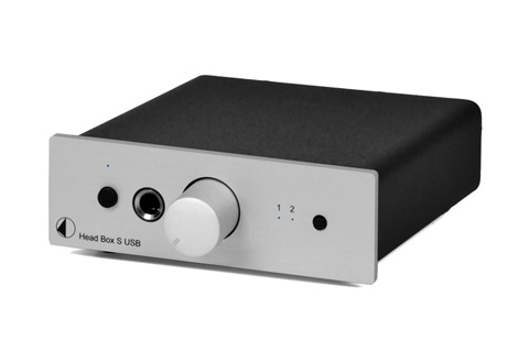 Pro-Ject Head Box S USB headphone amplifier and DAC, silver