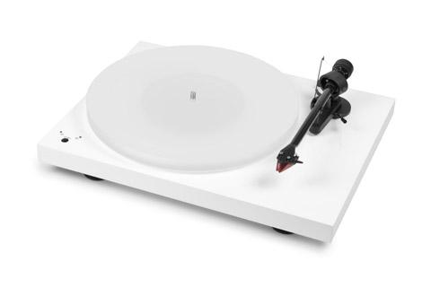 Pro-Ject Debut Carbon Esprit DC SB pladespiller med Ortofon 2M Red og RIAA, hvid højglans