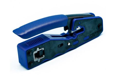 Crimping tool for RJ45 modular connectors