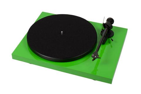Pro-Ject Debut Carbon Phono USB DC pladespiller med Ortofon OM-10 pickup, grøn