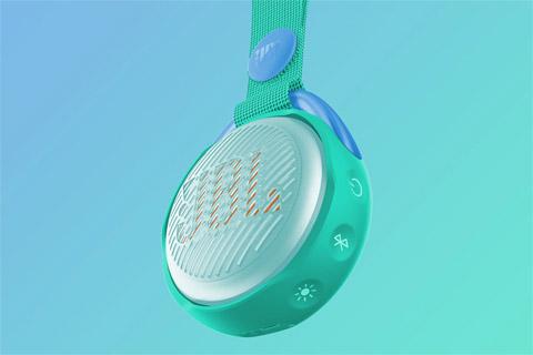 JBL JR POP portable speaker for kids, teal