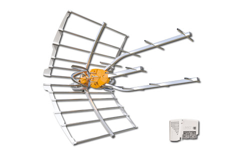 Televes Ellipse LTE700 outdoor UHF/DVB-T element antenna active 38 dB with included indoor PSU
