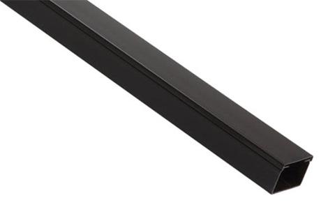Kabelkanal i plast, sort