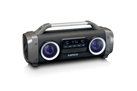 Lenco SPR-100 Boombox, sort