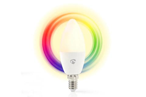 Nedis SmartLife E14 LED bulb, 4.5W, RGB + 2700K