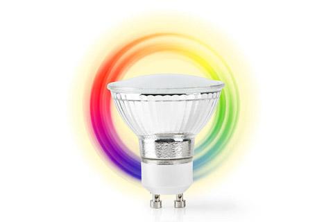 Nedis SmartLife GU10 LED bulb, 5W, RGB + 2700K