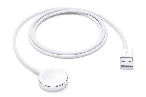 Apple MX2E2ZM/A Original lader til Apple Watch, hvid, 1.00 meter
