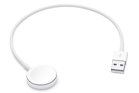 Apple MX2G2ZM/A Original lader til Apple Watch, hvid, 0.30 meter