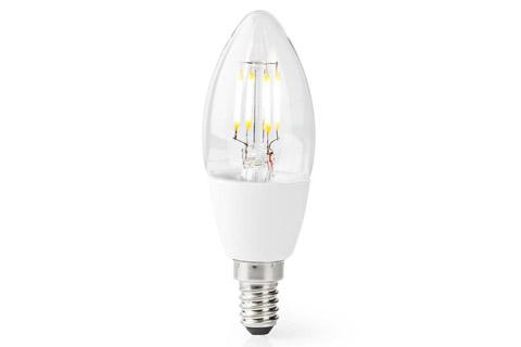 SmartLife E14 LED bulb, 5W, C37, 2700 K
