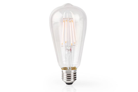 SmartLife E27 LED ST64 glass bulb, 5W, 2700K