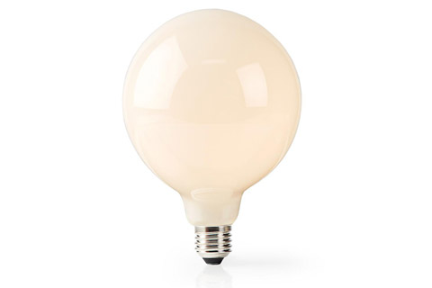 SmartLife E27 LED 125 mm matte glass bulb, 5W, 2700K