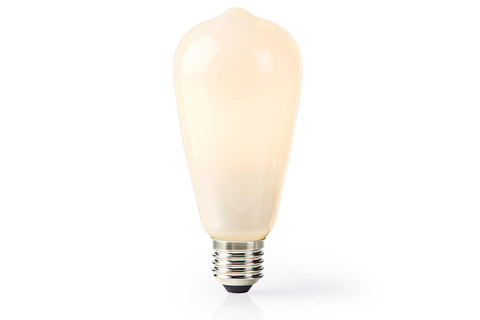 SmartLife E27 LED ST64 matte glass bulb, 5W, 2700K