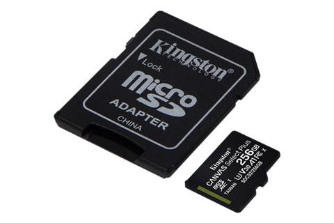 Kingston Canvas Plus microSD(SDHC) card - 256 GB