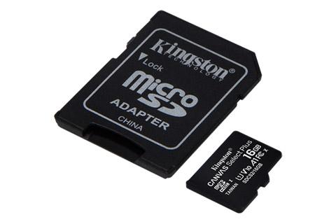 Kingston Canvas Plus microSD(SDHC) card - 16 GB