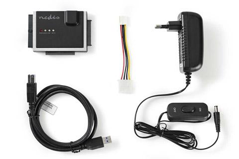 Nedis Hard drive adapter (IDE and SATA) - Content