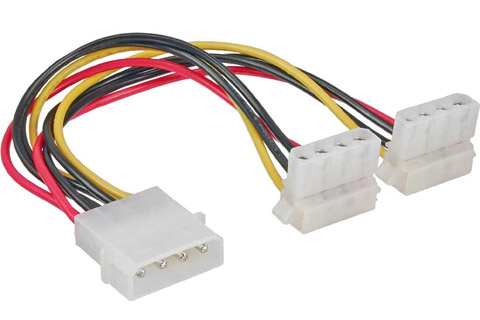 Molex split cable (Molex female to 2x Molex male angle)