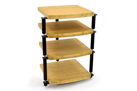Atacama Audio Eris 2 Eco 5 HiFi Rack, 4 shelfs, Natural Bamboo