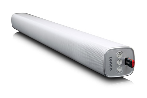 Lenco SB-081 Soundbar, white - Side