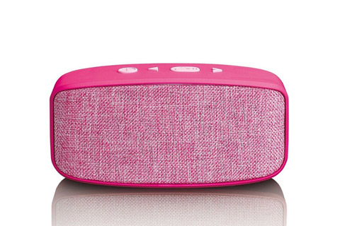 Lenco BT-120 Bluetooth speaker with Micro SD card slot - Pink front