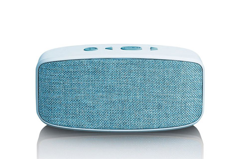 Lenco BT-120 Bluetooth speaker with Micro SD card slot - Blue front