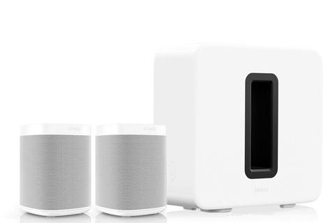 SONOS 2.1 system, dual Sonos One incl. Sub, white