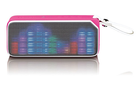 Lenco BT-191 Bluetooth speaker with lights -  Pink front