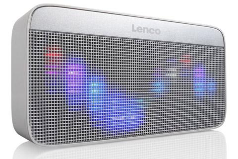 Lenco BT-200 Bluetooth speaker with lights -  Side