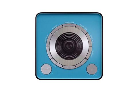 Lenco CR-16 FM clockradio with projector - Blue top